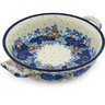 10-inch Stoneware Round Baker with Handles - Polmedia Polish Pottery H8667G