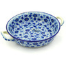10-inch Stoneware Round Baker with Handles - Polmedia Polish Pottery H8785D
