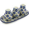 10-inch Stoneware Salt and Pepper with Toothpick Holder - Polmedia Polish Pottery H2560H
