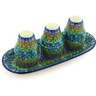 10-inch Stoneware Salt and Pepper with Toothpick Holder - Polmedia Polish Pottery H4945G