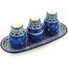 10-inch Stoneware Salt and Pepper with Toothpick Holder - Polmedia Polish Pottery H6587G