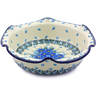 10-inch Stoneware Scalloped Bowl - Polmedia Polish Pottery H0720I