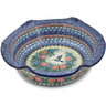 10-inch Stoneware Scalloped Bowl - Polmedia Polish Pottery H1665L