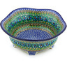 10-inch Stoneware Scalloped Bowl - Polmedia Polish Pottery H5940G