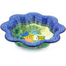 10-inch Stoneware Scalloped Fluted Bowl - Polmedia Polish Pottery H6656G