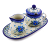 10-inch Stoneware Sugar and Creamer Set - Polmedia Polish Pottery H0768I