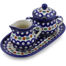 10-inch Stoneware Sugar and Creamer Set - Polmedia Polish Pottery H1309B