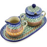 10-inch Stoneware Sugar and Creamer Set - Polmedia Polish Pottery H1407B