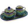 10-inch Stoneware Sugar and Creamer Set - Polmedia Polish Pottery H2094E