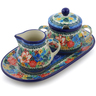 10-inch Stoneware Sugar and Creamer Set - Polmedia Polish Pottery H2797J