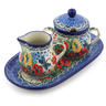 10-inch Stoneware Sugar and Creamer Set - Polmedia Polish Pottery H2799J