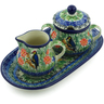 10-inch Stoneware Sugar and Creamer Set - Polmedia Polish Pottery H4141J