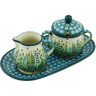 10-inch Stoneware Sugar and Creamer Set - Polmedia Polish Pottery H5207H