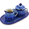 10-inch Stoneware Sugar and Creamer Set - Polmedia Polish Pottery H8455I