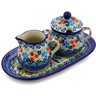 10-inch Stoneware Sugar and Creamer Set - Polmedia Polish Pottery H8459I