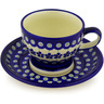 10 oz Stoneware Cup with Saucer - Polmedia Polish Pottery H0603D