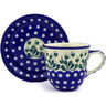 10 oz Stoneware Cup with Saucer - Polmedia Polish Pottery H2237E