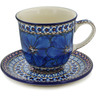 10 oz Stoneware Cup with Saucer - Polmedia Polish Pottery H5532L