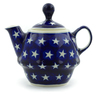 10 oz Stoneware Tea or Coffee Pot - Polmedia Polish Pottery H4446J