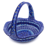 11-inch Stoneware Basket with Handle - Polmedia Polish Pottery H4028I