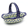 11-inch Stoneware Basket with Handle - Polmedia Polish Pottery H4438F