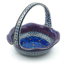 11-inch Stoneware Basket with Handle - Polmedia Polish Pottery H9266I