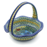 11-inch Stoneware Basket with Handle - Polmedia Polish Pottery H9272I