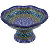 11-inch Stoneware Bowl with Pedestal - Polmedia Polish Pottery H0387G