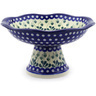 11-inch Stoneware Bowl with Pedestal - Polmedia Polish Pottery H9482E