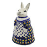 11-inch Stoneware Bunny Shaped Jar - Polmedia Polish Pottery H5340C