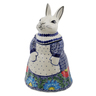 11-inch Stoneware Bunny Shaped Jar - Polmedia Polish Pottery H6637K