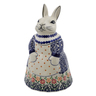 11-inch Stoneware Bunny Shaped Jar - Polmedia Polish Pottery H9661J