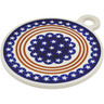 11-inch Stoneware Cutting Board - Polmedia Polish Pottery H5207C