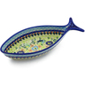 11-inch Stoneware Fish Shaped Platter - Polmedia Polish Pottery H5943K