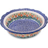 11-inch Stoneware Fluted Pie Dish - Polmedia Polish Pottery H5229F