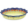 11-inch Stoneware Fluted Pie Dish - Polmedia Polish Pottery H8597H