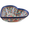 11-inch Stoneware Heart Shaped Bowl - Polmedia Polish Pottery H2785L