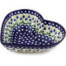 11-inch Stoneware Heart Shaped Bowl - Polmedia Polish Pottery H4670G