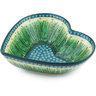 11-inch Stoneware Heart Shaped Bowl - Polmedia Polish Pottery H6376G