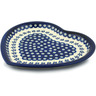 11-inch Stoneware Heart Shaped Platter - Polmedia Polish Pottery H0396A