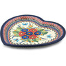 11-inch Stoneware Heart Shaped Platter - Polmedia Polish Pottery H3433C