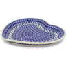 11-inch Stoneware Heart Shaped Platter - Polmedia Polish Pottery H4423J