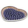 11-inch Stoneware Heart Shaped Platter - Polmedia Polish Pottery H4491C
