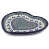 11-inch Stoneware Heart Shaped Platter - Polmedia Polish Pottery H6289C