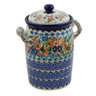 11-inch Stoneware Jar with Lid and Handles - Polmedia Polish Pottery H8258J