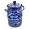 11-inch Stoneware Jar with Lid and Handles - Polmedia Polish Pottery H8261J
