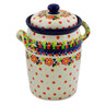 11-inch Stoneware Jar with Lid and Handles - Polmedia Polish Pottery H8263J