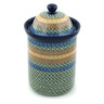 11-inch Stoneware Jar with Lid - Polmedia Polish Pottery H1379B