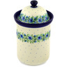 11-inch Stoneware Jar with Lid - Polmedia Polish Pottery H1807D