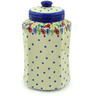 11-inch Stoneware Jar with Lid - Polmedia Polish Pottery H3450F